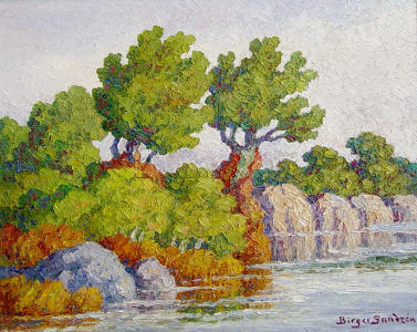 We buy and sell birger sandzen paintings for Small paintings that sell